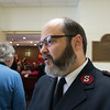 JOED VIERA/STAFF PHOTOGRAPHER- Lockport, NY-Major Jose Santiago speaks to the US&J at the Salvation Army's Open House.