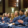 JOED VIERA/STAFF PHOTOGRAPHER- Lockport, NY-Lockport High School students wait to be inducted into the Honors Society.