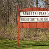 JOED VIERA/STAFF PHOTOGRAPHER-Lockport, NY-A sign welcomes vistors to Bond Lake Park.