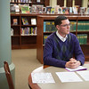 JOED VIERA/STAFF PHOTOGRAPHER- Wilson, NY-Gabriel Curcione speaks with the US&J at the Wilson High School Library.