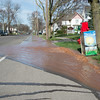 JOED VIERA/STAFF PHOTOGRAPHER- Lockport, NY-A water main break causes flooding on East Avenue at McCollum Street.