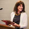 JOED VIERA/STAFF PHOTOGRAPHER- Lockport, NY-Anne Calos recieves the Others Award during the Salvation Army's Open House.