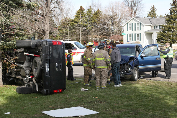 STEPHEN WALLACE/CONTRIBUTER- Wheatfield, NY-The Scene of a two car accident.