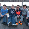 JOED VIERA/STAFF PHOTOGRAPHER- Lockport, NY-Aurelius Garay 10, Miguel Salas 11, David Soulvie 10, Kenneth Kobylanski 10 and Travis Salas 10 sit on a ramp at Lockport's Skate Park near Outwater park.
