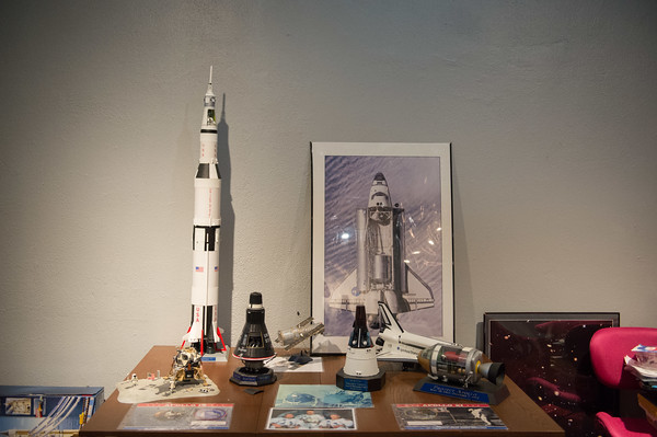 JOED VIERA/STAFF PHOTOGRAPHER- Lockport, NY-Model space crafts are on display at the Challenger Learning Center.