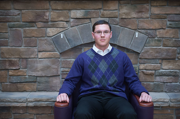 JOED VIERA/STAFF PHOTOGRAPHER- Wilson, NY-Gabriel Curcione sits at the Wilson High School Library.