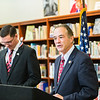 JOED VIERA/STAFF PHOTOGRAPHER- Wilson, NY-Rep. Chris Collins speaks after presenting Wilson High School Senior Gabriel Curcione with a silver level Congressional Award by