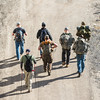 JOED VIERA/STAFF PHOTOGRAPHER- Lockport, NY-A group of Veterans start walk from Lockport to Rochester along the Flight of Five.