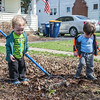 JOED VIERA/STAFF PHOTOGRAPHER- Lockport, NY-Sam Henderson,1 (right) helps Noah Greinern, 1 rake a yard on Prospect Street.