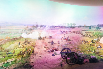 Lighting effects in the Gettysburg Cyclorama.