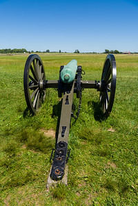 Cannon placed on Seminary Ridge near where Pickett's Charge started.