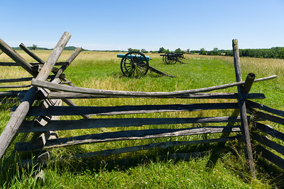 Cannon on the east side of the field where Pickett's Charge formed.