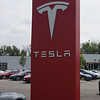 PARAMUS, NEW JERSEY - AUGUST 6, 2016: Tesla Service Center and Showroom with Superchargers