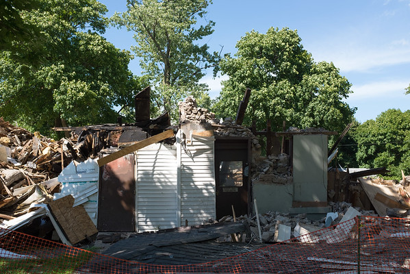 JOED VIERA/STAFF PHOTOGRAPHER-Lockport, NY-The remains of the convenience store lost to a fire.