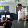 JOED VIERA/STAFF PHOTOGRAPHER-Lockport, NY-  Niagara County Sheriff James Voutour checks out a call at  Niagara County 911.