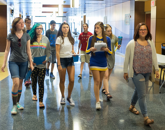 JOED VIERA/STAFF PHOTOGRAPHER-Lockport, NY-  New students attend freshman orientation at Lockport High School.