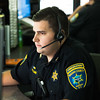 JOED VIERA/STAFF PHOTOGRAPHER-Lockport, NY-  Jordan Collins handles a call at Niagara County 911.