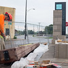 JOED VIERA/STAFF PHOTOGRAPHER-Lockport, NY- Robert Russo works on the  Locks District project.
