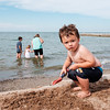 JOED VIERA/STAFF PHOTOGRAPHER-Olcott, NY-Andrew Glad, 2, plays in the sand on Olcott Beach.