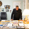 JOED VIERA/STAFF PHOTOGRAPHER-Wilson, NY-David Ross, of Hamilton and Clark Funeral Parlor stands behind his desk at the Parlor.