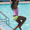 JOED VIERA/STAFF PHOTOGRAPHER-Lockport, NY- Myasia Campbell 10 jumps in the Lockport Community Pool.