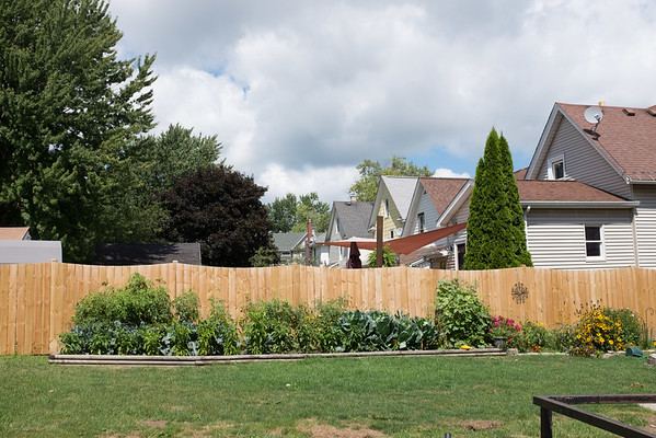 JOED VIERA/STAFF PHOTOGRAPHER-Lockport, NY- A garden behind a home on Webb Street and Stevens Street. Cornell Cooperative Extension has warned residents near the HTI Fire not to eat produce grown in their gardens
