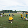 JOED VIERA/STAFF PHOTOGRAPHER-Lockport, NY- Players drill during Lockport High School's first football practice of the season.