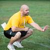 JOED VIERA/STAFF PHOTOGRAPHER-Lockport, NY-Head Coach Matt Vermette talks to players during Lockport High School's first football practice of the season.