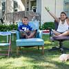 JOED VIERA/STAFF PHOTOGRAPHER-Lockport, NY-Aviyon, 4, and Ashayliana Pritchard, 9, help out their mom at a yard sale on Locust Street.