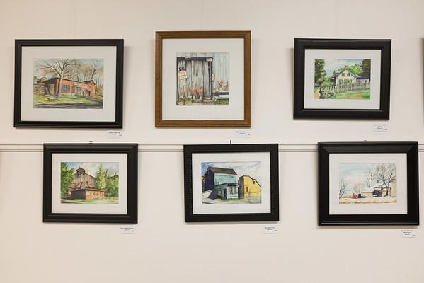 JOED VIERA/STAFF PHOTOGRAPHER-Lockport, NY-  Robert Rimmer's work on display at the NIagara Historical Society