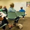 JOED VIERA/STAFF PHOTOGRAPHER-Lockport, NY-Marla Guarino attendees of the seminar how to read food labels.