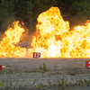 JOED VIERA/STAFF PHOTOGRAPHER-Gasport, NY-  A blast demonstration at the Lafarge quarry in Gasport.
