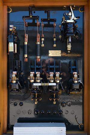 JOED VIERA/STAFF PHOTOGRAPHER-Lockport, NY-a switchbox ready for inspection at the Locks.