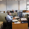 JOED VIERA/STAFF PHOTOGRAPHER-Lockport, NY-  Ad rep Dan Tronolone and  Leann Belfield work at the new Union-Sun & Journal building on Friday, September, 16.