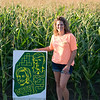 JOED VIERA/STAFF PHOTOGRAPHER-Cambria, NY-Cambria Corn Maze owner stands at the entrance.