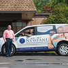 JOED VIERA/STAFF PHOTOGRAPHER- Lockport, NY-Matt McDougall and Jim Haas show off the facility's new van.