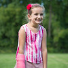 JOED VIERA/STAFF PHOTOGRAPHER-Lockport, NY-Maria Baldassarre, 6 before playing a game of kickball on the last day of the YMCA Day Camp.