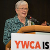 JOED VIERA/STAFF PHOTOGRAPHER--Niagara Falls,NY-Christa Caldwell accepts a lifetime achievement award at the YWCA Niagara Awards.