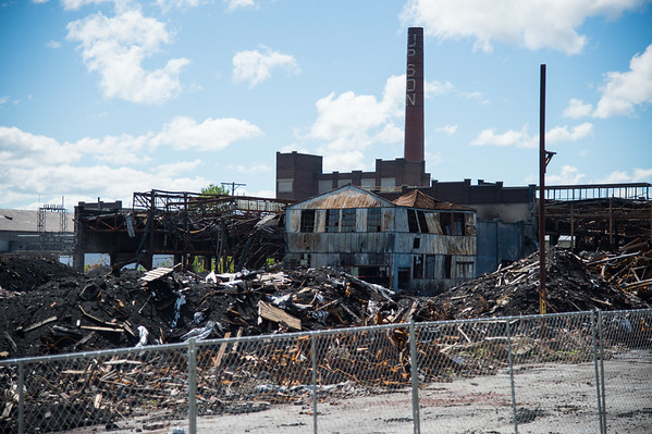 JOED VIERA/STAFF PHOTOGRAPHER-Lockport, NY- The remains of HTI.