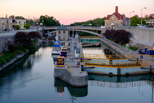 JOED VIERA/STAFF PHOTOGRAPHER-Lockport, NY-A view of the locks during sunset.