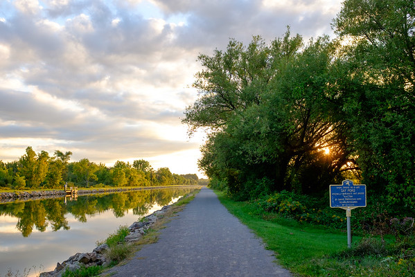 JOED VIERA/STAFF PHOTOGRAPHER-Lockport, NY-  The sun sets over the canal near the Day Road Bridge.