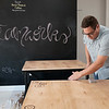 JOED VIERA/STAFF PHOTOGRAPHER-Lockport, NY-Jonathan Grose works at opening Steamworks, his new coffee shop.