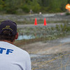 JOED VIERA/STAFF PHOTOGRAPHER-Gasport, NY-  An ATF trainer set off a blast demonstration at the Lafarge quarry in Gasport.