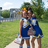 JOED VIERA/STAFF PHOTOGRAPHER-Lockport, NY- Cheerleaders Soraya Coronati, 13 and Kiaira Peterkin, 13 raise funds for their program by selling chocolate.