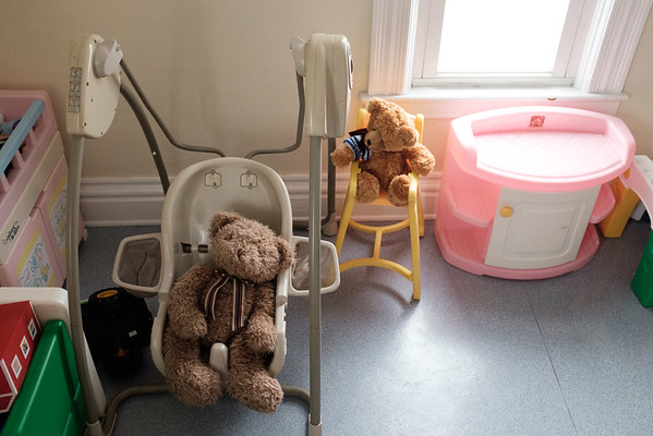 JOED VIERA/STAFF PHOTOGRAPHER-Toys fill the playroom of the YWCA safe house for domestic violence victims.