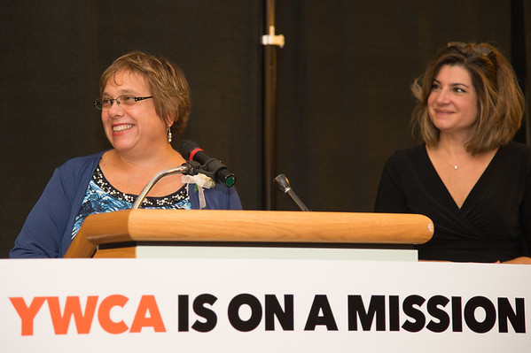 JOED VIERA/STAFF PHOTOGRAPHER--Niagara Falls,NY-Nancy Babis accepts the managment award at the YWCA Niagara Awards.