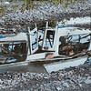 JOED VIERA/STAFF PHOTOGRAPHER-Gasport, NY-  The remains of a vehicle after a  blast demonstration at the Lafarge quarry in Gasport.