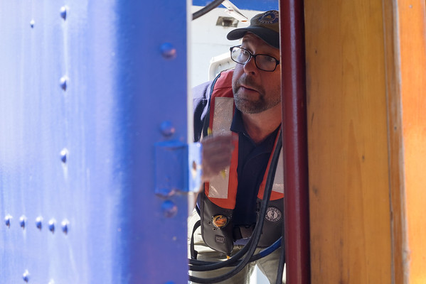 JOED VIERA/STAFF PHOTOGRAPHER-Lockport, NY-Darren Mcguirk inspects a switchbox at the Locks.