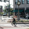 JOED VIERA/STAFF PHOTOGRAPHER- Lockport, NY- People enjoy a unusually warm autumn day on Main and Market Street.