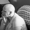 JOED VIERA/STAFF PHOTOGRAPHER-Lockport, NY-   Katie Jo Perry sits in her home a week before a double masectomy to remove cancerous tissue.